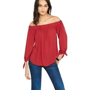 Express Off the Shoulder Tunic Blouse